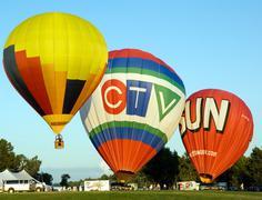 hot air balloon festival  in gatineau - stock photo