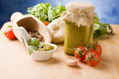 italian pesto - stock photo