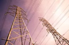 Power lines Stock Photos