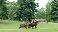 Union and Confederate cavalry maneuver Stock Footage
