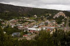 queenstown, tasmania - stock photo