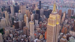 Aerial Empire State Building Manhattan, New York Stock Footage