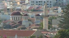 Mosque in Herakleon in Crete, Greece Stock Footage