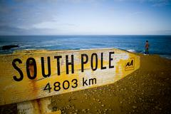 south pole - stock photo