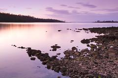 sunset rocks - stock photo