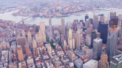Aerial view 1 WTC, Brooklyn, New York, USA Stock Footage