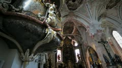 Baroque Church in Austria Stock Footage