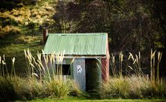tin hut - stock photo