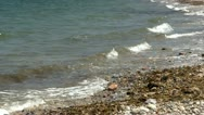 Rocky coast line waves Stock Footage