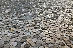 many coins - stock photo