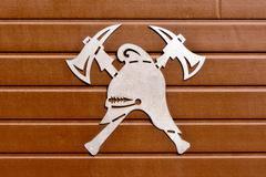 Fireman emblem Stock Photos