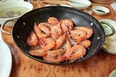 Grill prawns Stock Photos