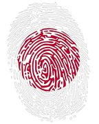 Thumbprint  flag colors of japan Stock Illustration