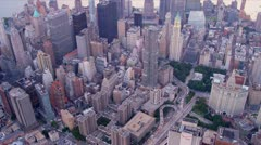 Aerial 1 WTC, Manhattan Financial District, New York, Stock Footage