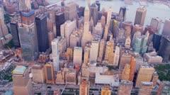 Aerial view 1 WTC, Manhattan, New York, USA, Stock Footage