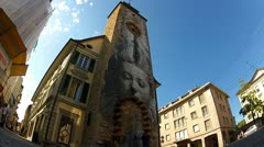 Art wall in Vevey Stock Footage