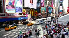 Timelapse of Times Square traffic at daytime, on May 21, 2012 in New York - stock footage