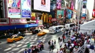 Stock Video Footage of Timelapse of Times Square traffic at daytime, on May 21, 2012 in New York