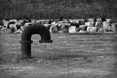 black pipe - stock photo
