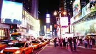 Stock Video Footage of Timelapse of Times Square traffic at night, on May 22, 2012 in New York