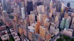Aerial view 1 WTC, Brooklyn and Manhattan Bridges, New York, USA, Stock Footage