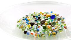 bowl of marbles - stock photo