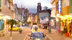 Driving time lapse in Banos, Ecuador, one of the most popular touristic city of Stock Footage