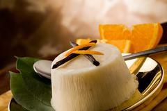 vanilla orange pudding - stock photo