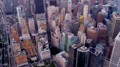 Aerial view city Midtown Manhattan, New York, USA Stock Footage