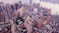 Aerial view One World Trade Centre, New York, USA,  Stock Footage