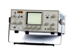 oscilloscope (isolated) - stock photo