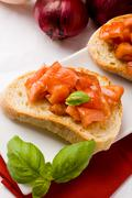 Stock Photo of bruschetta with ingredients