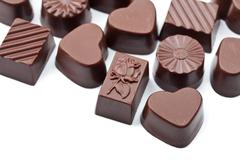 chocolate candies isolated - stock photo