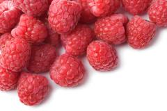 Stock Photo of fresh raspberries background