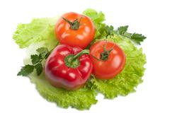 Colorful fresh vegetables isolated Stock Photos