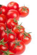 Ripe tomatoes background isolated Stock Photos
