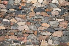 abstract stone wall background - stock photo