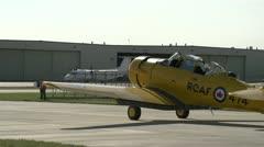 Aircraft, harvard idle wide shot Stock Footage