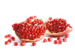 pomegranate isolated - stock photo