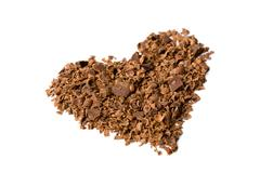 chocolate in heart shape isolated - stock photo