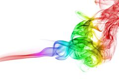 Abstract rainbow smoke background isolated Stock Photos