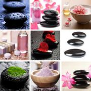 Spa and body care collage Stock Photos