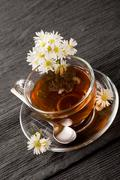 chamomile with marguerite - stock photo