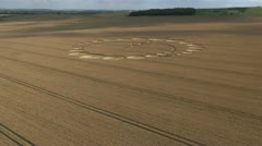 Nice Crop Circle Etchillhampton 2012 Stock Footage