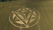Stock Video Footage of Crop Circle Aerial FlightCam