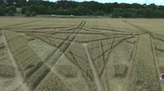 Crop Circle Aerial - stock footage