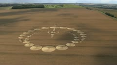 Stock Video Footage of Crop Circle Aerial