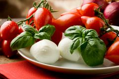 tomatoe mozzarella salad - stock photo