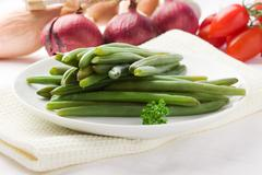Green beans - french beans Stock Photos