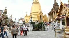 Palace and Wat Phra Kaew Stock Footage